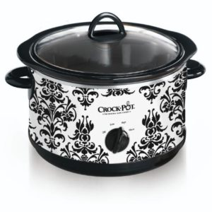 black-damask-slow-cooker