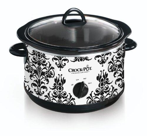 black-damask-slow-cooker