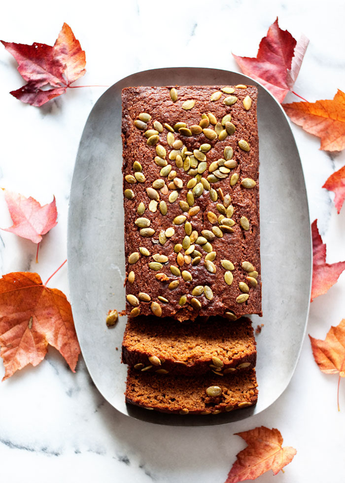 Great Pumpkin Bread recipe - Moist, tender, and full of flavor, this pumpkin bread is scrumptious for everyone - and just happens to be both gluten-free and dairy-free.