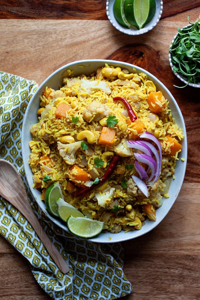 biryani-inspired-autumn-vegetable-rice-with-butternut-squash-cauliflower-and-cashews