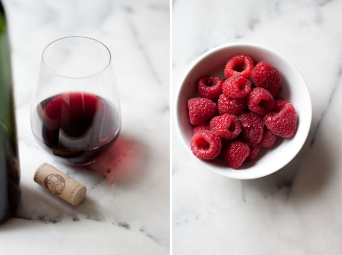 Raspberry Zinfandel Cranberry Sauce recipe - Red wine, raspberries, and cinnamon make for a special - yet still surprisingly simple - homemade cranberry sauce. Tart, just a bit jammy, and warmly spiced. Honey-sweetened (with vegan options). Love!