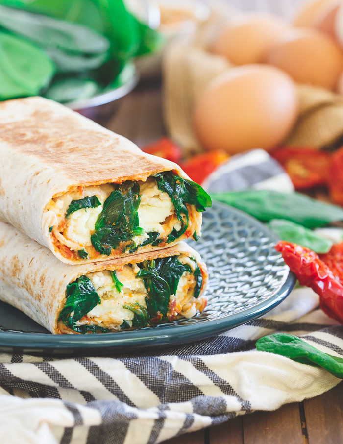 Kitchen Treaty's Top 10 of 2016 #2: Homemade Starbucks Spinach Feta Breakfast Wrap