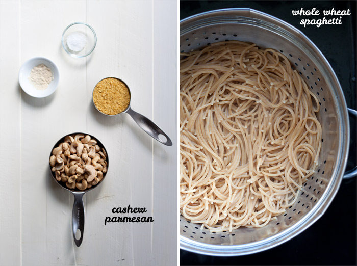 Vegan Cacio e Pepe recipe - This vegan version of the cheese-and-black-pepper pasta staple comes remarkably close to the real thing. Only 8 real-food ingredients (including olive oil, salt, and pepper) and done in 20 minutes!