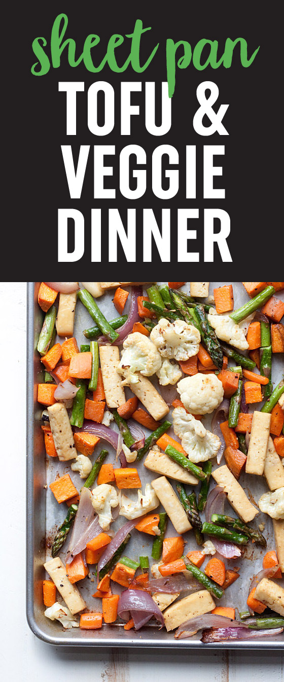 Sheet pan tofu veggie dinner kitchen treaty sheet pan tofu veggie dinner recipe a super simple one pan vegan forumfinder Images