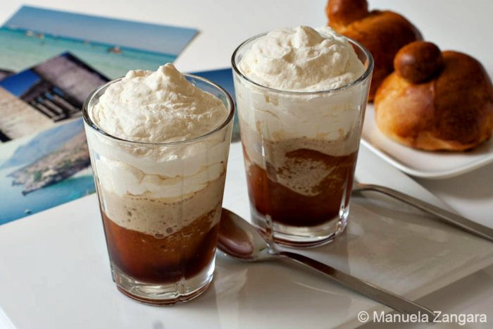 10 ways to upgrade your iced coffee! Shake it, freeze it, flavor it ... so many ways to up your iced coffee game. Like this Granita al Caffe Con Panna from @manusmenu