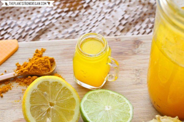 23 Tasty Turmeric Recipes - Like these Citrus Turmeric Shots from @PlantPhilosophy