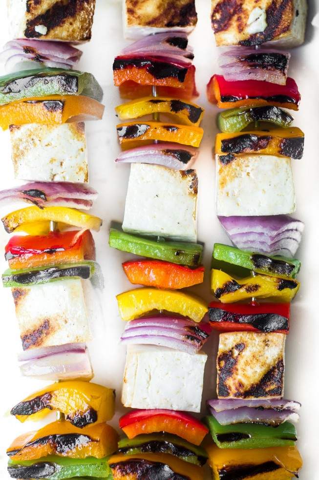 15 Vegan Dinners for the Grill - like these Grilled Tofu Skewers from @slmoran21