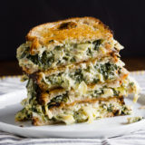 Spinach & Artichoke Grilled Cheese