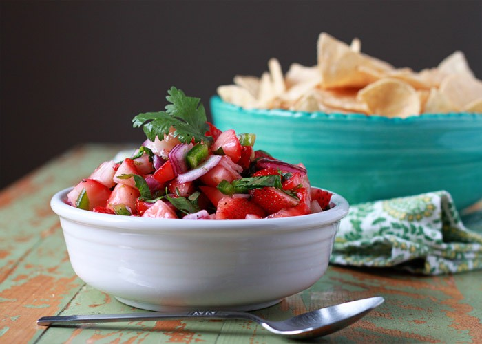 41 Fantastic Fruit Salsa Recipes - like this Strawberry Jalapeno Salsa from @kitchentreaty