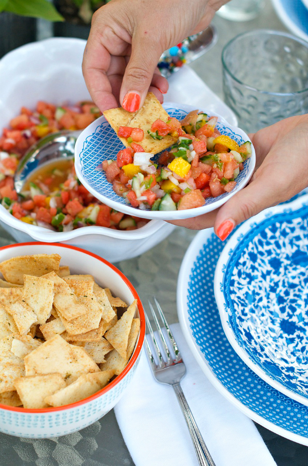 41 Fantastic Fruit Salsa Recipes - like this Watermelon Salsa from @sandycoughlin
