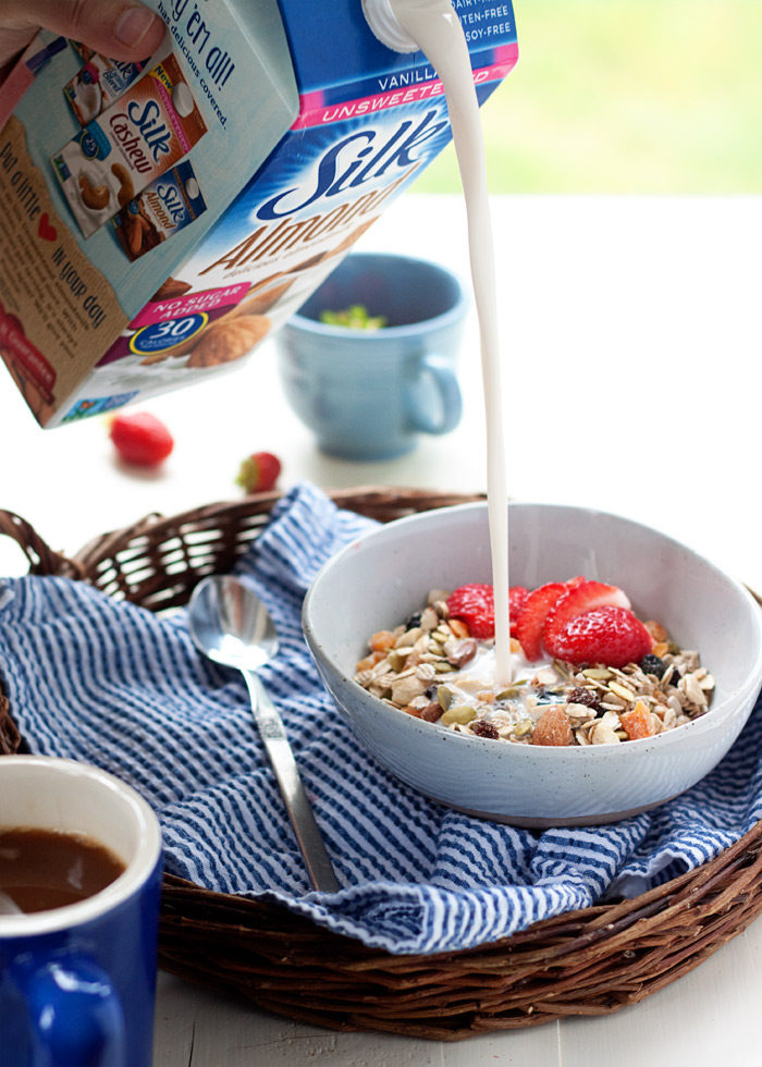 How to Make Muesli - My favorite simple breakfast! Cool, hearty, and nourishing - with this easy formula, you can make your own muesli exactly how you like it. #sponsored #LoveMySilk @LoveMySilk