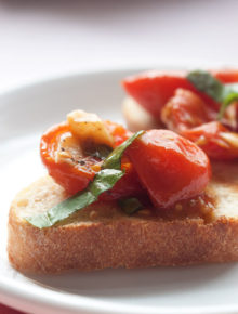 Slow-Roasted Tomato & Garlic Bruschetta