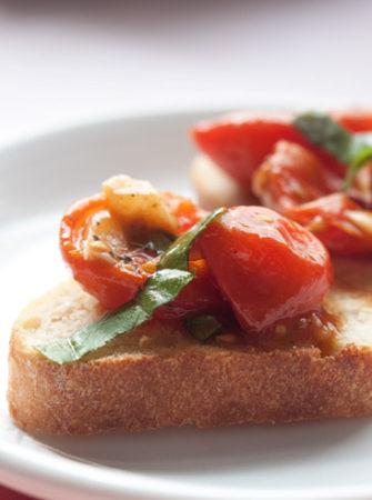 Slow-Roasted Tomato & Garlic Bruschetta