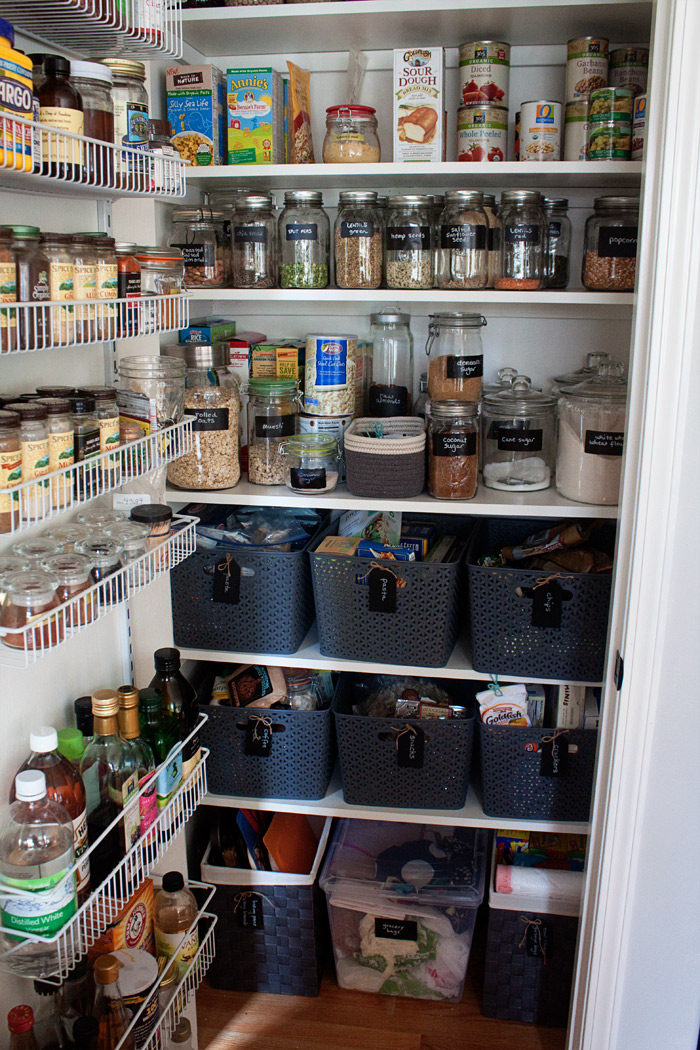 How we organized our small kitchen pantry kitchen treaty for Organization ideas for kitchen pantry