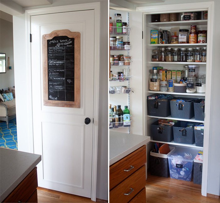How we organized our small kitchen pantry kitchen treaty for Built in kitchen cupboards for a small kitchen