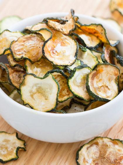 Salt & Pepper Baked Zucchini Chips recipe
