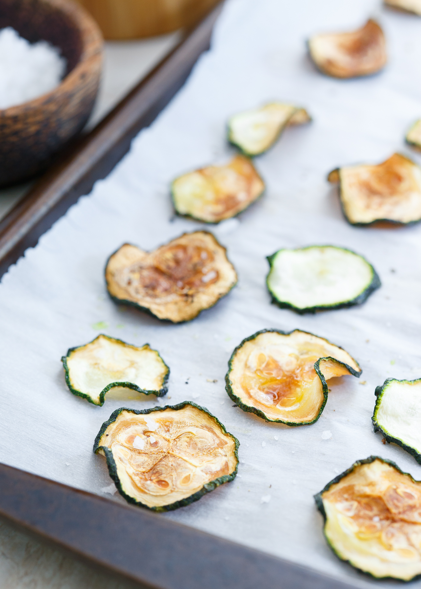 Salt & Pepper Baked Zucchini Chips recipe