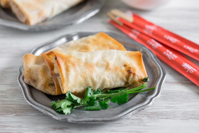 Crispy Baked Veggie Egg Rolls recipe - These veggie-packed egg rolls ...