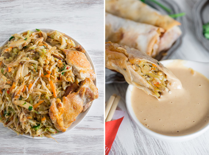 Crispy Baked Veggie Egg Rolls recipe