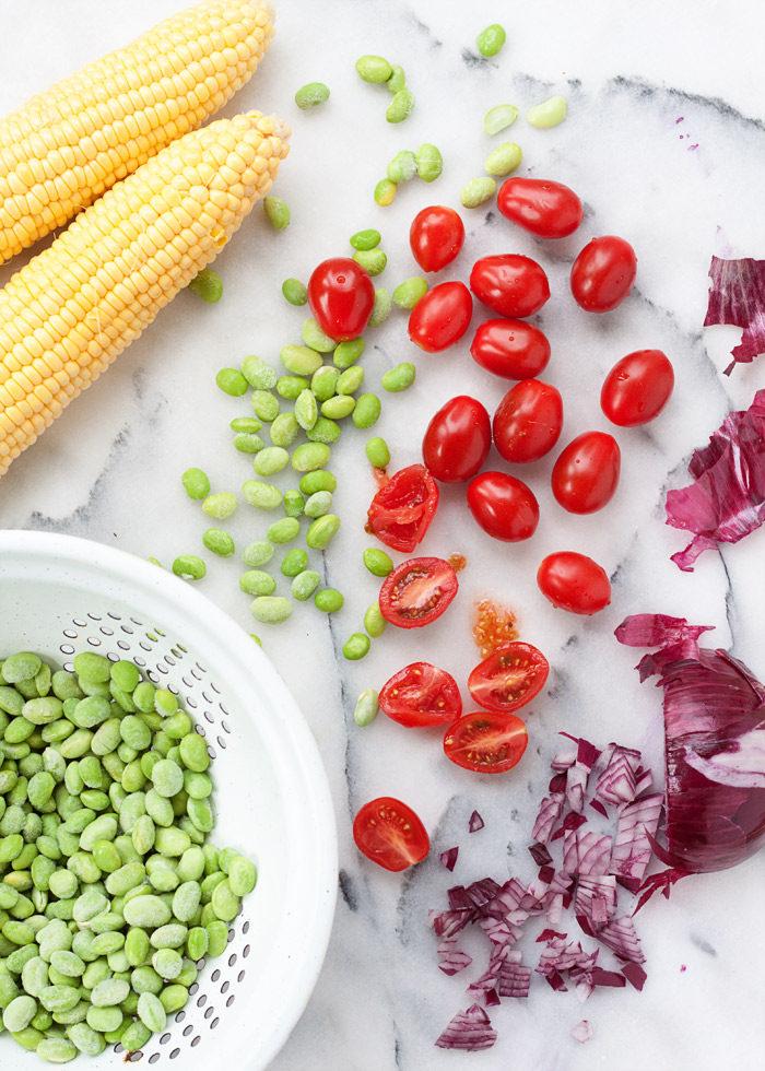 Summer Corn & Edamame Succotash Salad