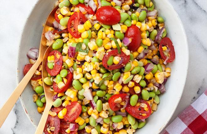 Summer Corn & Edamame Salad recipe {vegan, gluten-free}