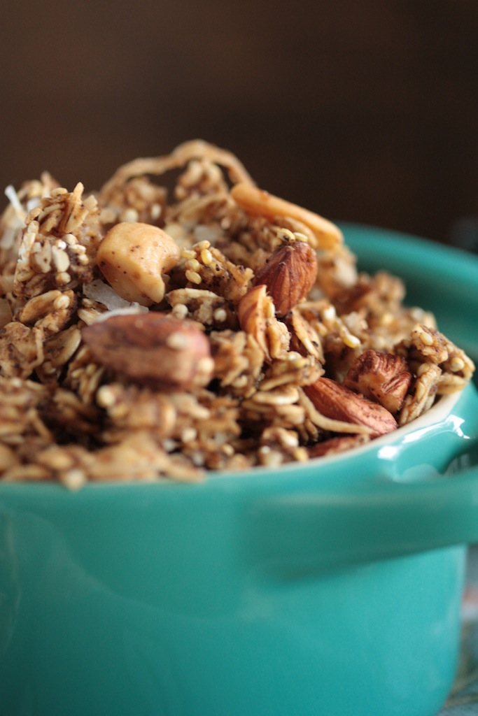 65 Homemade Granola Recipes, like this Chai-Spiced Granola from Country Cleaver