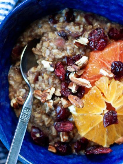 Orange Cranberry Steel-Cut Oatmeal recipe