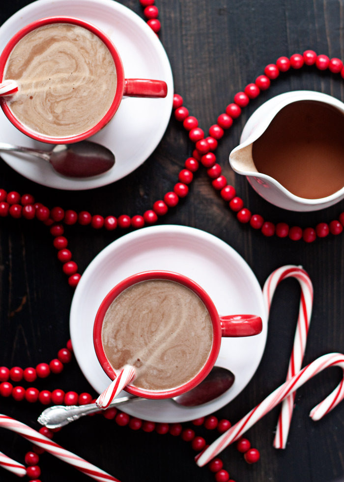 Peppermint Mocha Vegan Coffee Creamer recipe - A festive homemade non-dairy creamer made with coconut milk, cocoa powder, pure maple syrup, and extracts. Super easy to make!