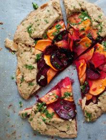 Rustic Sweet Potato & Beet Galette recipe
