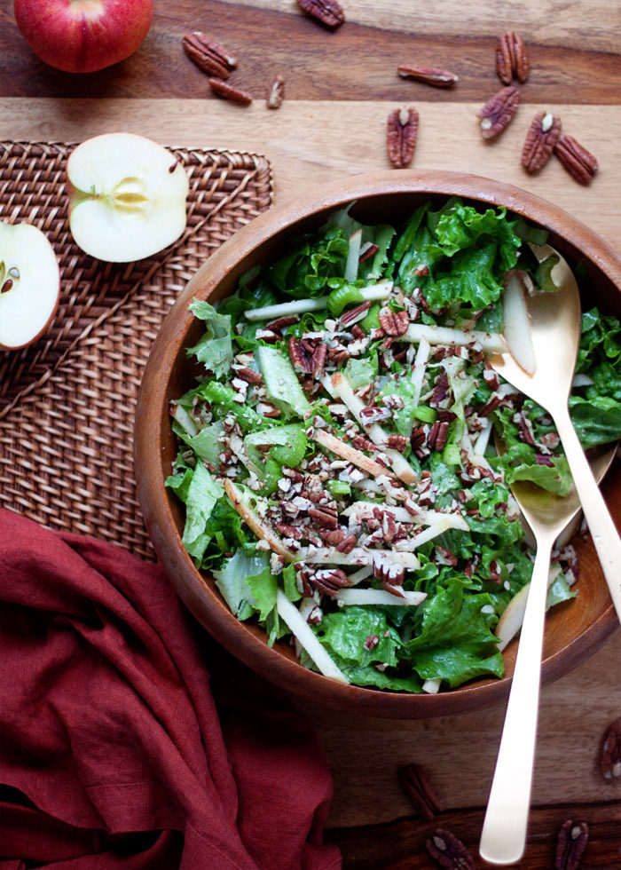 Simple Fall Green Salad with Apples & Pecans - Kitchen Treaty