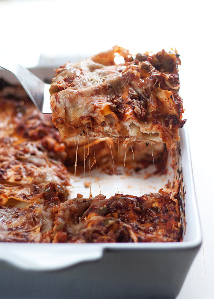The Best Vegetarian Lasagna Recipe Ever - Simple is best! Layered ...