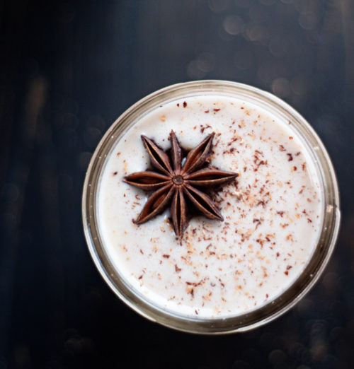 Chai-Spiced Vegan Eggnog recipe