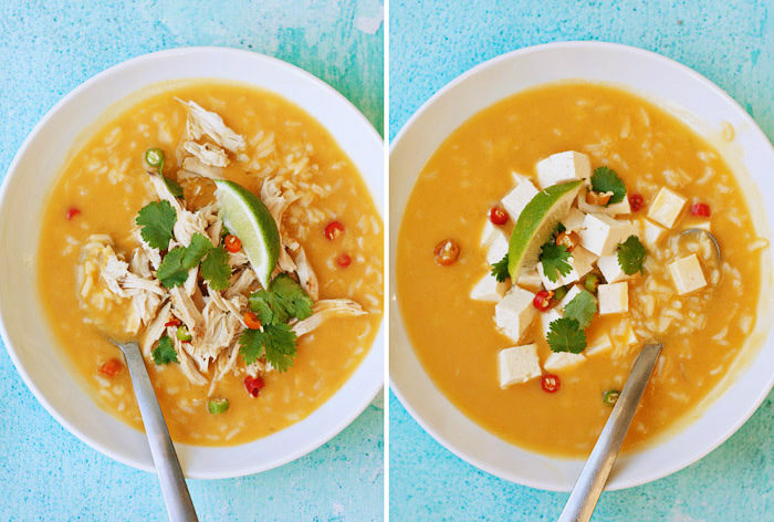 Coconut, Lime, & Rice Soup (2 ways!) - A super simple 30-minute soup ...
