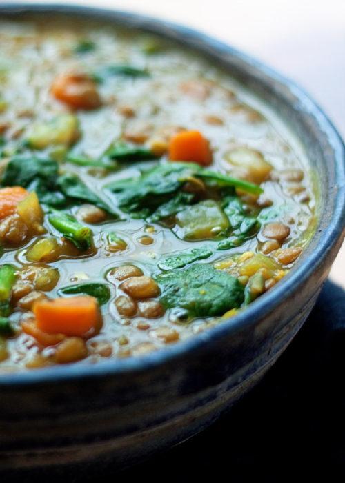instant-pot-vegan-golden-lentil-soup-with-spinach7