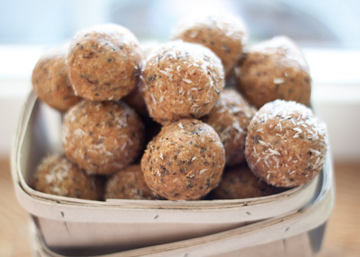 Low-Sugar Vanilla Cashew Tahini Energy Balls - A way-less-sweet version of the popular energy bites, these tasty no-bake energy balls still perk you up without the sugar high. I especially love the unique addition of tahini. A delicious - and convenient - snack! Vegan and gluten-free, under 2 grams of sugar per ball.