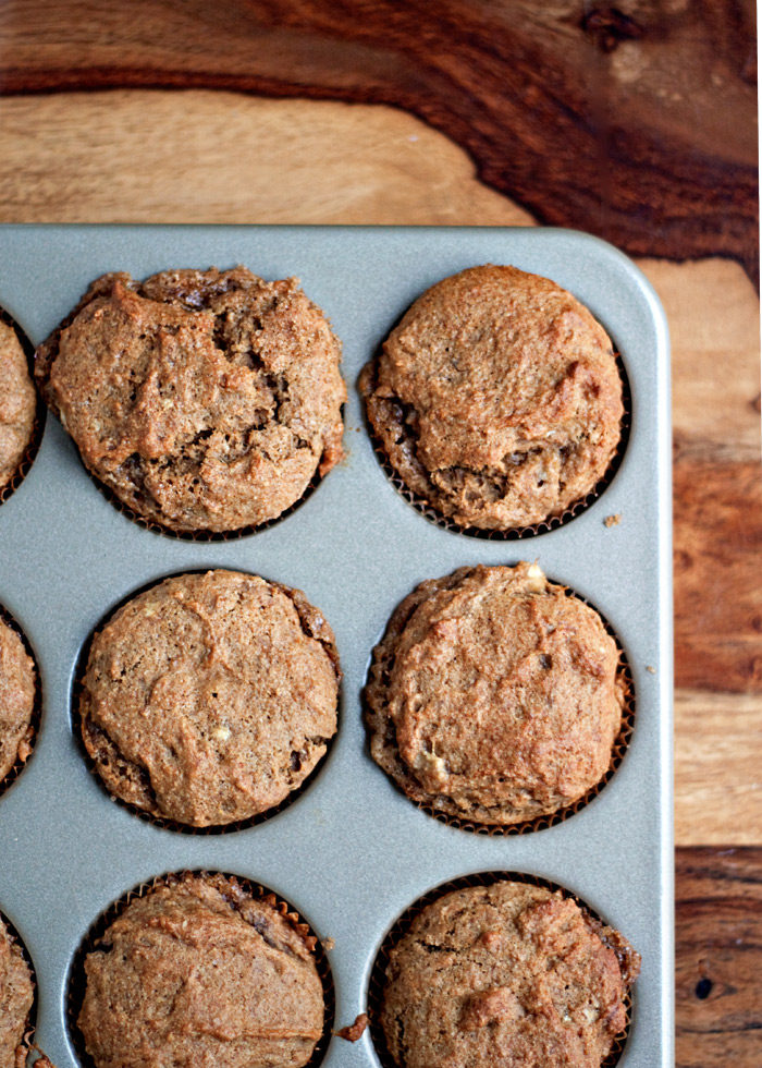 Brown Sugar Banana Muffins - Best banana muffin recipe ever! Full of banana flavor, a brown sugar ripple running through the middle, and so super moist you'd never know they're vegan.