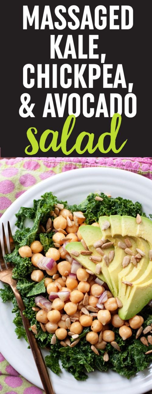 Massaged Kale Salad with Avocado & Chickpeas