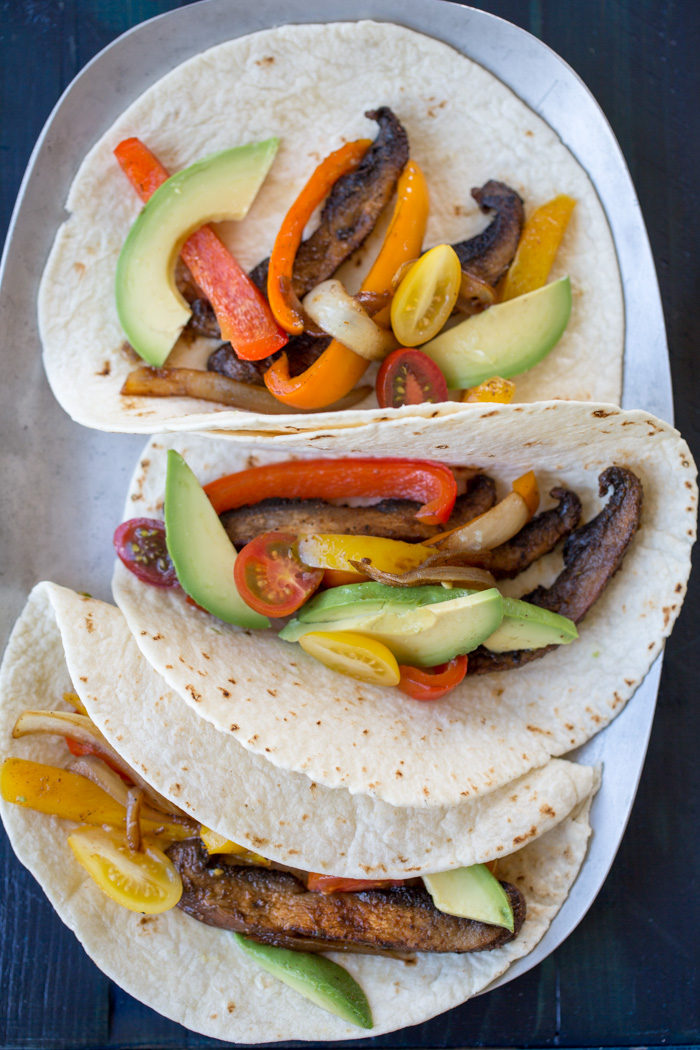 Easy Portobello Mushroom Fajitas recipe - On the table in less than 20 minutes, these vegan fajitas are full of flavor and completely satisfying.