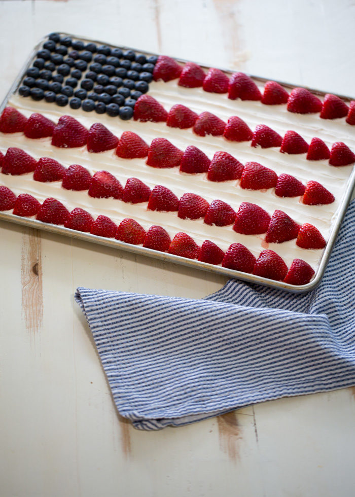 American Flag Decorated Cake