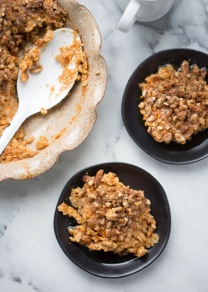 Sweet Potato Pie Baked Oatmeal with Crunchy Pecan Streusel ...