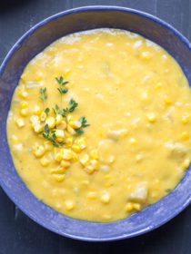Rich and Creamy Vegan Corn Chowder