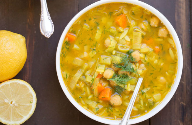 Chickpea Orzo Soup With Lemon Dill Kitchen Treaty