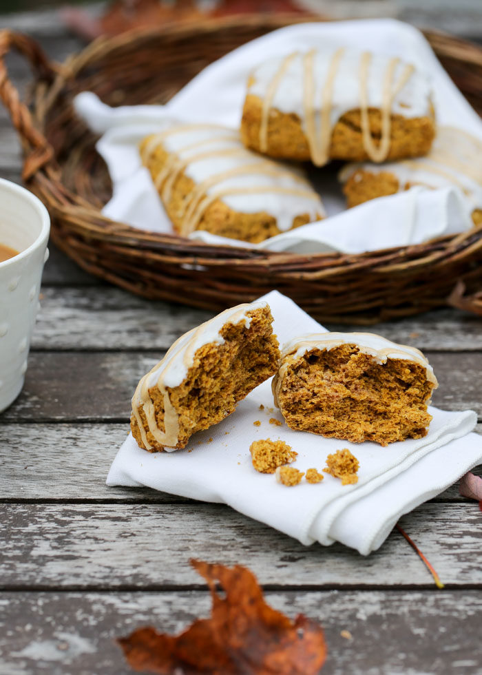 Better-Than-Starbucks Pumpkin Scones - Ahhh ... autumn in a pastry, right here. Tender, tasty, and these scones just happen to be dairy-free too! #pumpkinsconesrecipe