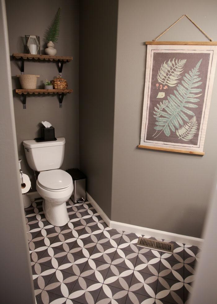 Our Gray White Half Bathroom Remodel Kitchen Treaty