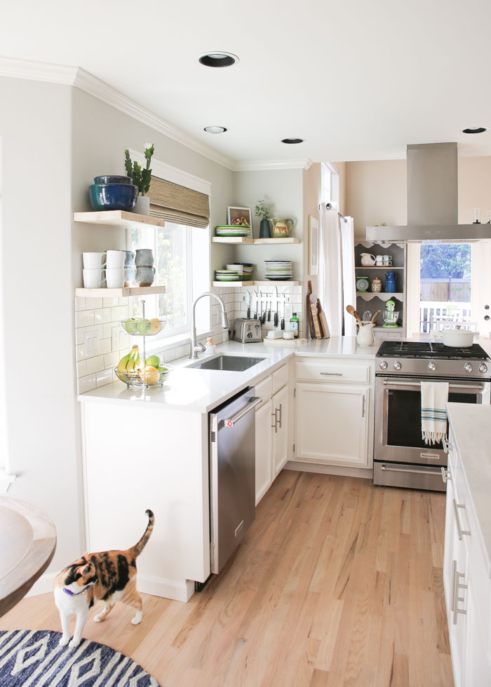 Our budget-friendly white kitchen remodel