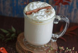 Slow Cooker Pumpkin Spice White Hot Chocolate