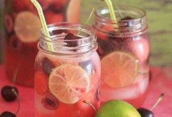 White Cherry, Lime, & Watermelon Sangria